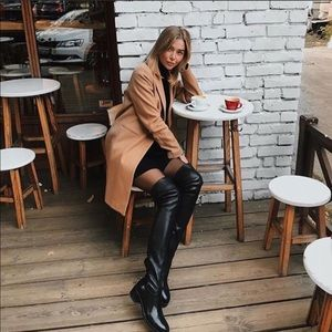 zara black over the knee boots 40/9